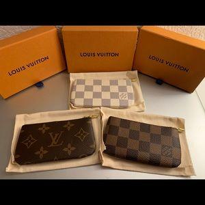 🆕 Louis Vuitton Key Pouch Canvas Set